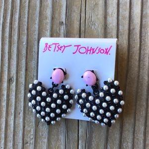 🎁 BNWT Betsey Johnson Dotted Heart Earrings!